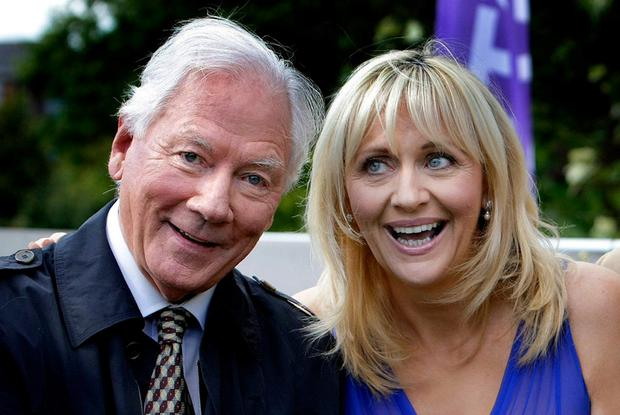 Gay Byrne with Miriam O'Callaghan. Photo: Steve Humphreys