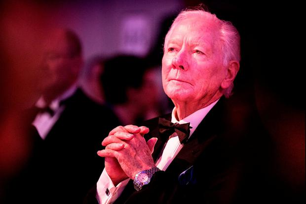 Gay Byrne at the Books Awards last week. Picture By David Conachy.