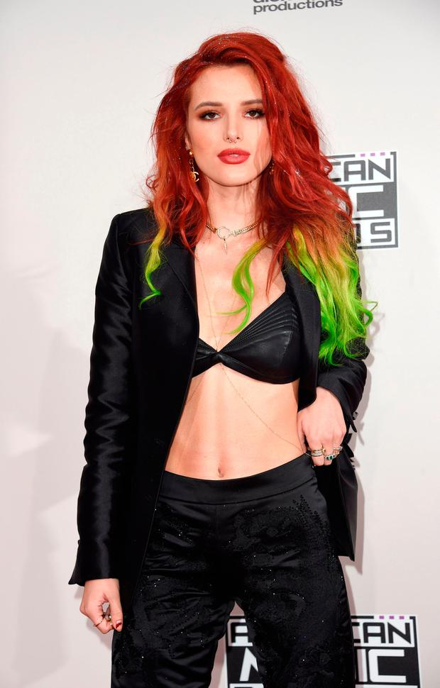 Actress Bella Thorne arrives for the 2016 American Music Awards, November 20, 2016 at the Microsoft Theater
