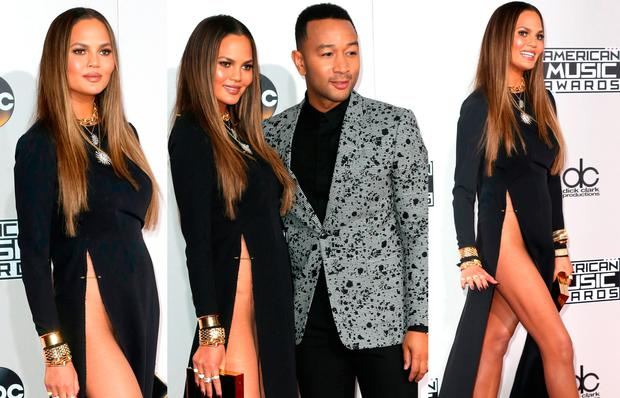 Chrissy Teigen at the American Music Awards