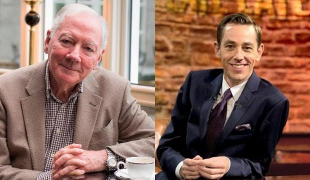 Gay Byrne (L) and Ryan Tubridy (R)