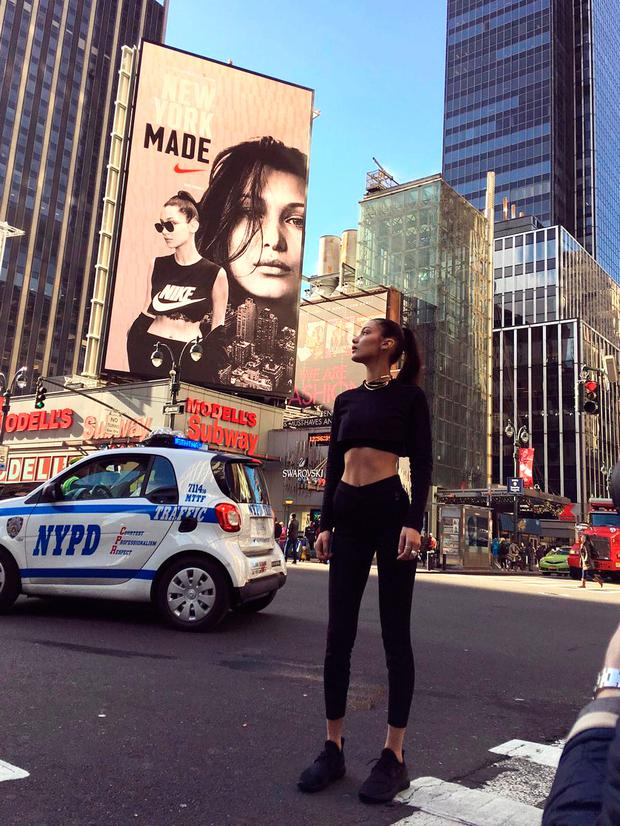 17bc6d6e9a4e Nike under fire for featuring  abnormally thin  Bella Hadid as new ...