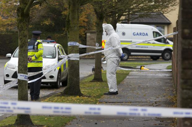 The scene of the incident in Maynooth, Co Kildare (Photo: Colin O'Riordain)