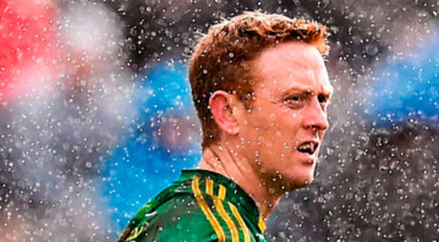 Stephen McCarthy's picture of Colm Cooper on a miserable day in Monaghan features in Sportsfile's photo essay of the GAA year, which was launched last night and is on sale in all good bookshops Photo: Sportsfile
