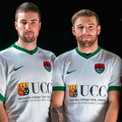 Gearoid Morrissey and Karl Sheppard wearing the new Cork City jersey Photo: Clare Keogh