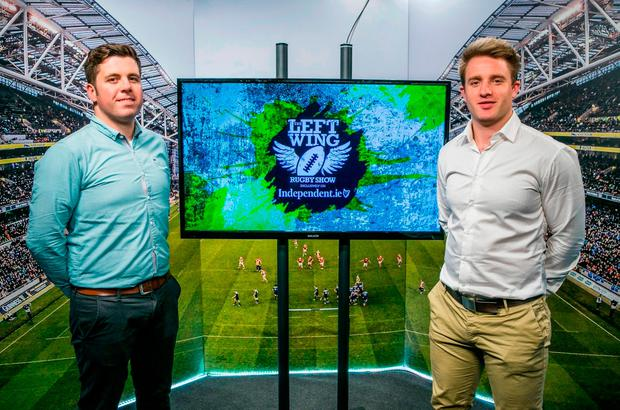 Ruaidhri O'Connor and Luke Fitzgerald in The Left Wing studio