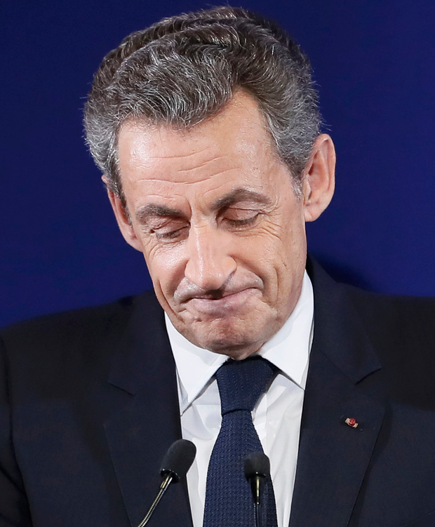 Sarkozy received only 20.6pc of votes on Sunday night Photo: REUTERS/Ian Langsdon/Pool