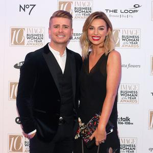 Pippa O'Connor and her husband Brian Ormonde at the 2016 IMAGE Businesswoman of the Year Awards in Dublin. Picture credit; Damien Eagers