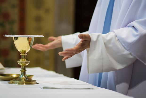 'I would like to take this opportunity to thank Fr Tony of Mount Merrion parish for his compassion, kindness and for understanding the act of a demented mother' Stock Image