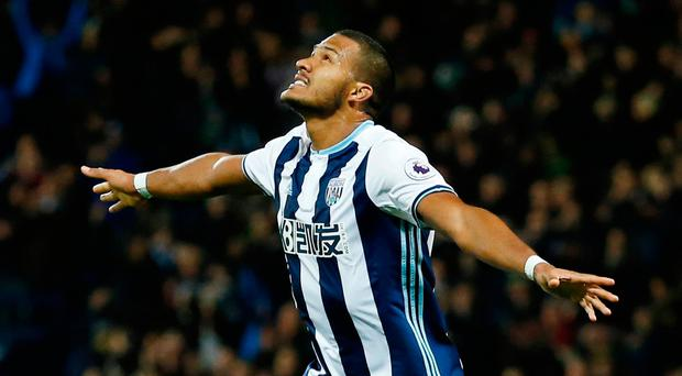 West Brom's Salomon Rondon celebrates scoring his side's fourth goal Photo: Reuters / Andrew Boyers