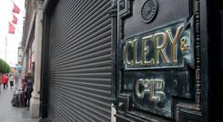 One of the Clerys signs