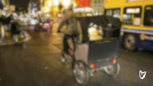 Rickshaw driver in city centre