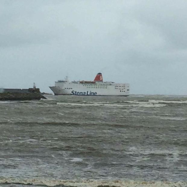 Storm Sees Stranded Stena Line Ferry At Sea