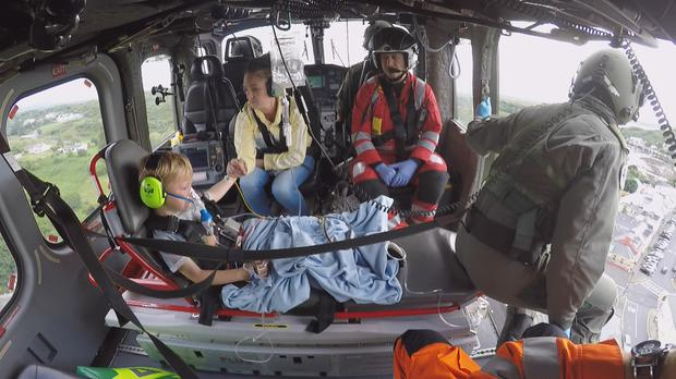 Air Corps 112 provides urgent assistance. Paramedics airs Wednesdays at 20:30 on TV3.