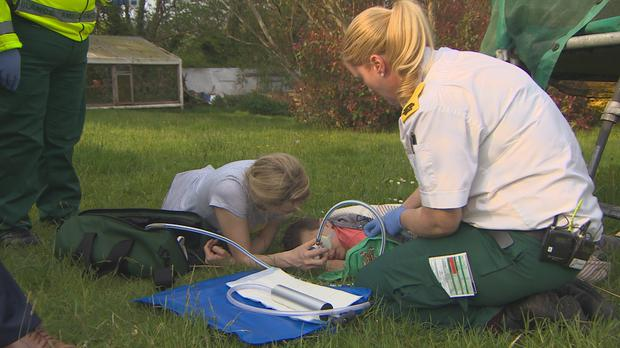 In Cork, paramedics tend to a severely broken arm of a brave boy who's fallen from his trampoline. Paramedics airs Wednesdays at 20:30 on TV3.