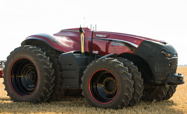 The tractor is controlled via a remote control Picture: Case IH