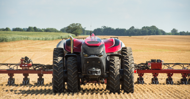 The vehicle will also stop immediately if GPS signal or position data is lost. Picture: Case IH