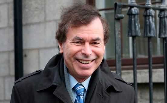 Former justice minister Alan Shatter leaving the Four Courts yesterday after a Court of Appeal hearing. Photo: Collins Courts
