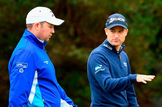 Scotland's Duncan Stewart and Russell Knox will tee off in the opening round of the World Cup alongside Ireland pair Graeme McDowell and Shane Lowry at Kingston Heath in Melbourne. Photo: Quinn Rooney/Getty Images
