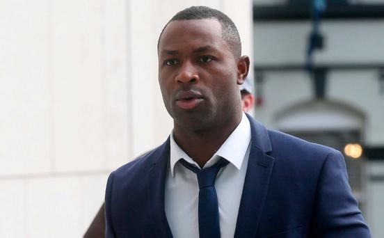 Francis Usanga arrives at the Dublin District Court. Pic Collins Courts.