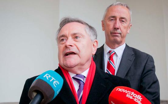 Labour Party leader Brendan Howlin, who negotiated the Lansdowne deal, said the Government had 'no public pay strategy'. Photo: Gareth Chaney Collins