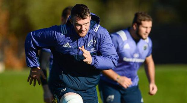 23 November 2016; Peter O'Mahony of Munster during squad training at the University of Limerick in Limerick. Photo by Diarmuid Greene/Sportsfile
