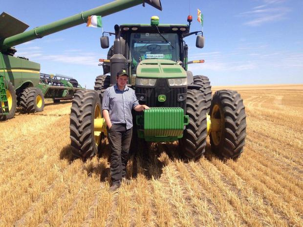 Louthman John Hoey working with Frederick Harvesting.