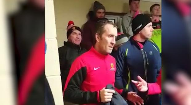 IT Carlow manager DJ Carey, far left.