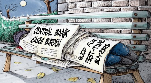 'The Central Bank is damned if does not do something to stop banks being again tempted to load up home buyers with too much debt, and damned if it does'