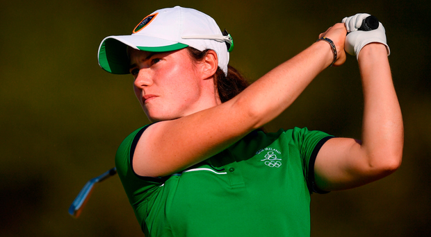 Leona Maguire, here wearing the green of Ireland at the Olympics in Rio, has opted to stay in the amateur ranks for 2017. Photo by Stephen McCarthy/Sportsfile