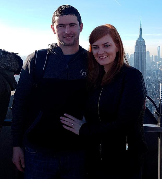 Joanne and her boyfriend Anthony Keenan got engaged in New York.