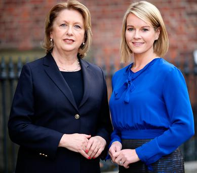 Mary McAleese and Claire Byrne. Photo: Gerry Mooney