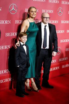 Actor Jacob Tremblay, actress Brie Larson and director Lenny Abrahamson from the film Room, produced by Element Pictures