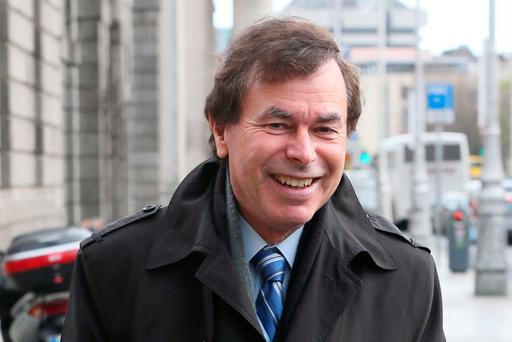 Alan Shatter pictured leaving the Four Courts. Pic:Collins Courts