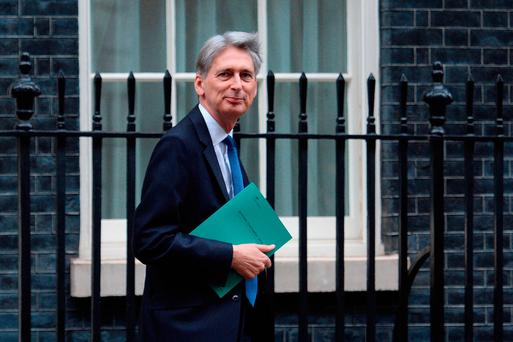 British Chancellor of the Exchequer Philip Hammond Photo: PA
