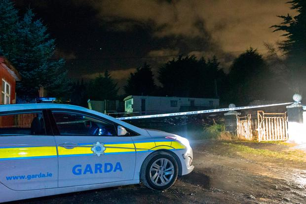 A garda investigation has been launched following the death of a man in his forties in a mobile home on Wednesday afternoon. Firefighters and gardaí were called to the scene at Chianti Park, Brittas. Picture: Arthur Carron