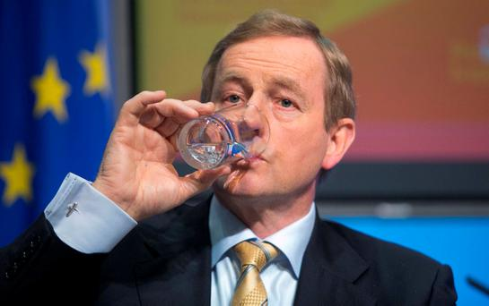 Enda Kenny said Independents would be allowed free votes on other issues but he wanted a collective response to Sinn Féin's motion which seeks to enshrine the country's neutrality in the Constitution. Photo: Collins