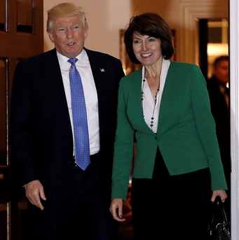 Donald Trump with US Representative Cathy McMorris Rodgers. Photo: Reuters