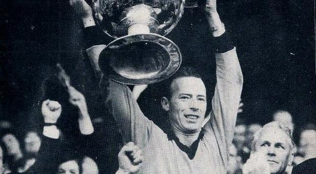 Joe Lennon lifts the Sam Maguire in 1968