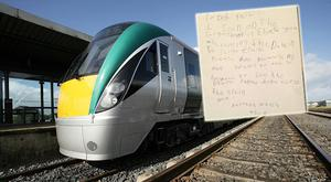 Darragh Walsh (6) penned a letter to Irish Rail urging them to keep the service to Sligo open