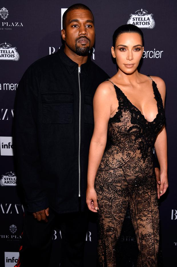 Kanye West and Kim Kardashian West attend Harper's Bazaar's celebration of