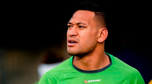 Israel Folau of Austraila during their rugby squad training session at the RDS Arena, Ballsbridge, Dublin. Photo by Seb Daly/Sportsfile