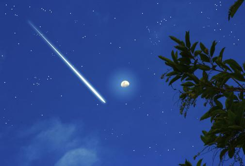 The meteor, so bright astronomers call it a 'fireball', was seen blazing across the sky at 5.15pm yesterday