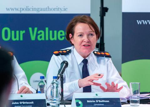 Garda Commissioner, Noirin O'Sullivan pictured during The Policing Authority Public Meeting at Griffith College. PIC COLIN O'RIORDAN