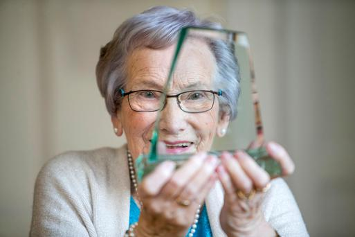 Grandparent of the Year Moya Connelly (94) with her award. Photo: Kyran O'Brien