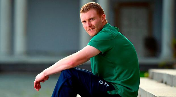 Keith Earls at Carton House for yesterday's team announcement. Photo: Matt Browne/Sportsfile