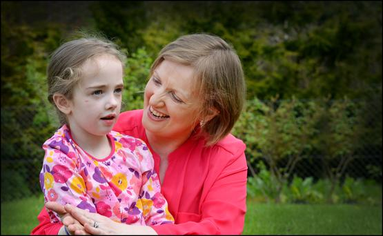 Vera Twomey and her daughter Ava (6) Picture by David Conachy