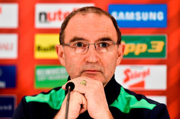 Republic of Ireland manager Martin O'Neill. Photo by David Maher/Sportsfile