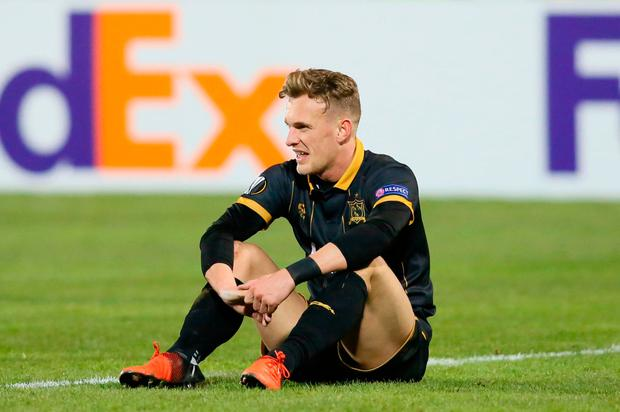 Dundalk's Dean Shiels reacts at the end of the match. Photo: Getty Images