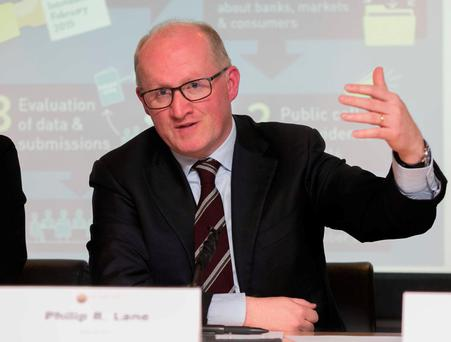 Central Bank Governor Philip Lane has tweaked one of the levers of mortgage lending. Photo: Gareth Chaney / Collins